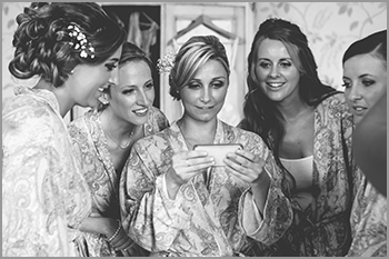 Bridal preparation shots