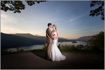 wedding photography at Lodore Falls Hotel