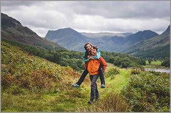 Outdoor family portrait shoots in the Lake District and Cumbria